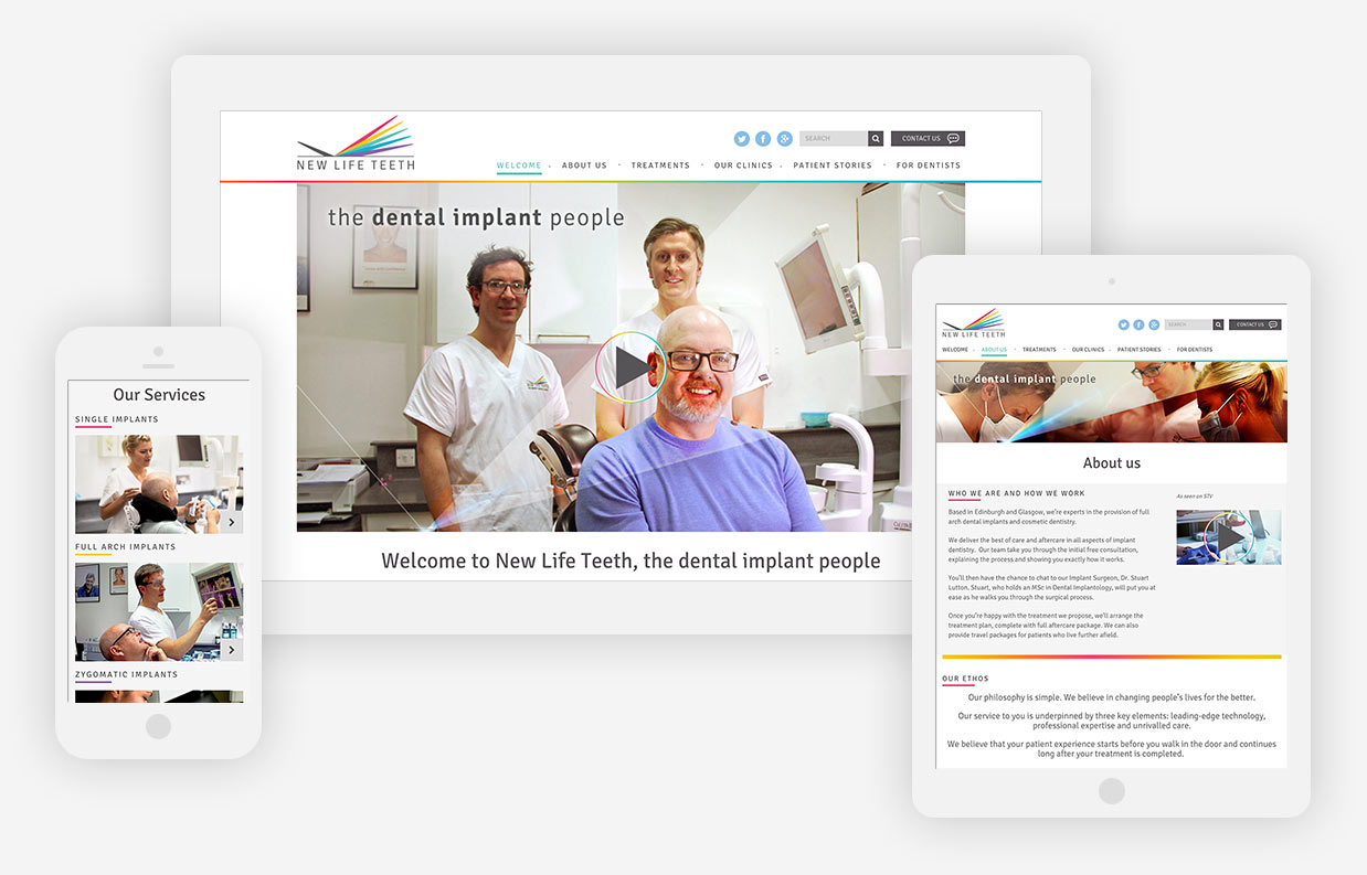 New Life Teeth website all devices.