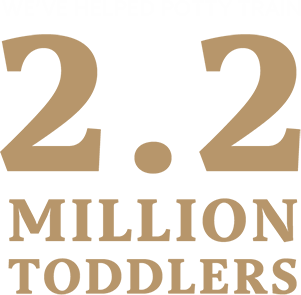 We've helped potty train 2.2 million toddlers.