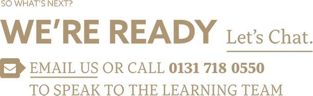 Let's chat. Email us or call 01317180550 to speak to the learning team.