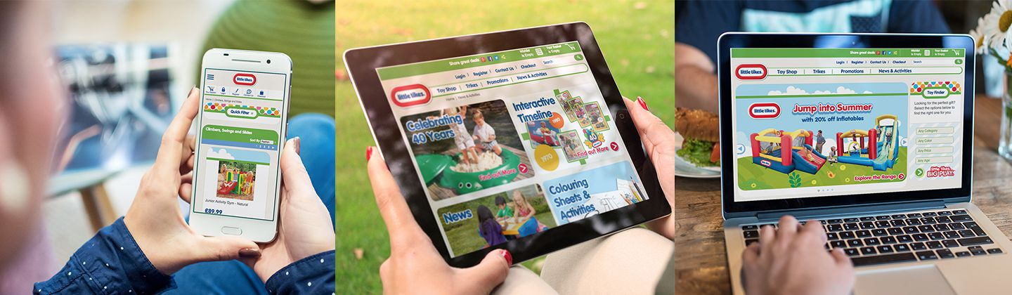 Little Tikes website on different devices
