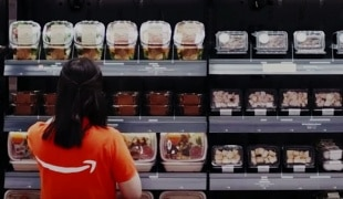 Person in Amazon Go store
