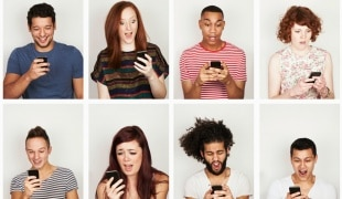 Image of different individuals with phones