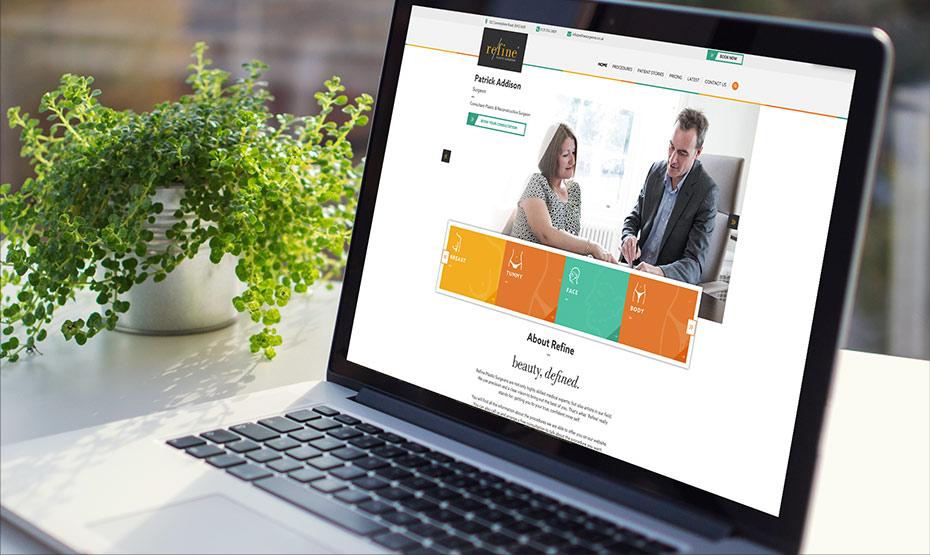 Refine Surgeons website development